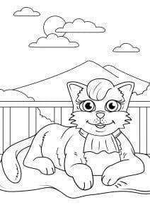 девочек кошки раскраски для