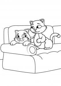 девочек распечатать животные кошки раскраски для