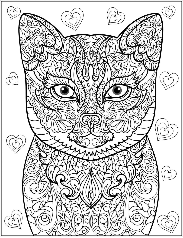 для детей 2 3 лет раскраска кошка - Рисовака