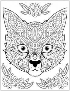 для детей распечатать кошка раскраска