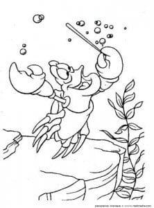 для детей распечатать русалочка раскраска