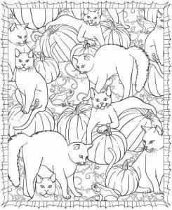 для девочек антистресс кошки раскраски