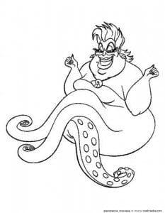 для девочек русалочка раскраска онлайн