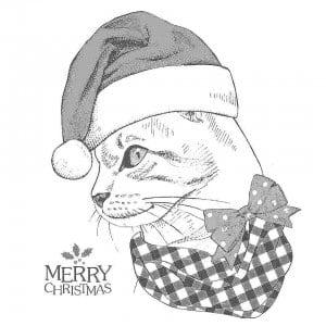для девочек животные кошки раскраска