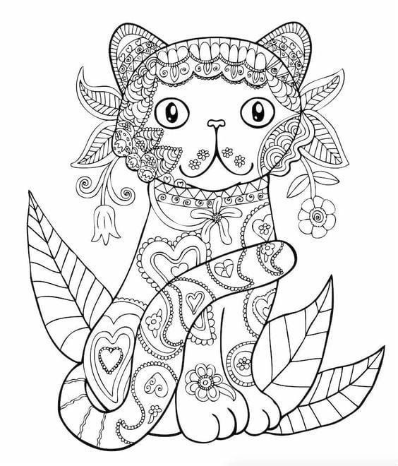 для малышей кошка раскраска - Рисовака