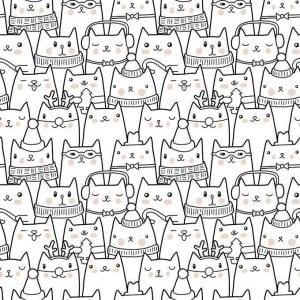 для взрослых кошки раскраски