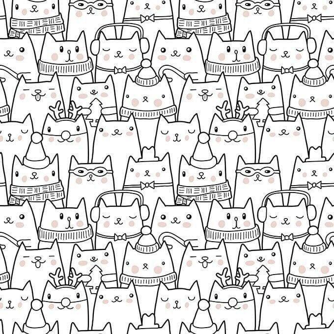 для взрослых кошки раскраски - Рисовака