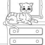 года кошки раскраски 3