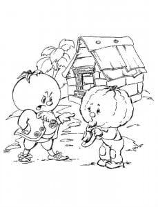 и его друзья картинки раскраска чиполлино