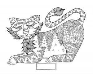 картинка кошки для детей раскраска А4