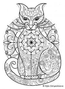 картинка кошки для детей раскраска