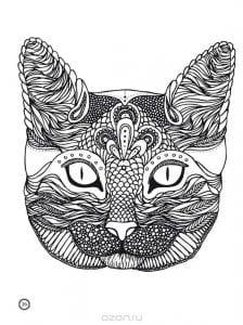картинки раскраски беспризорная кошка