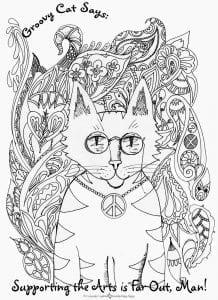 картинки раскраски кошек А4