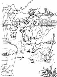 картинки раскраски кот леопольд