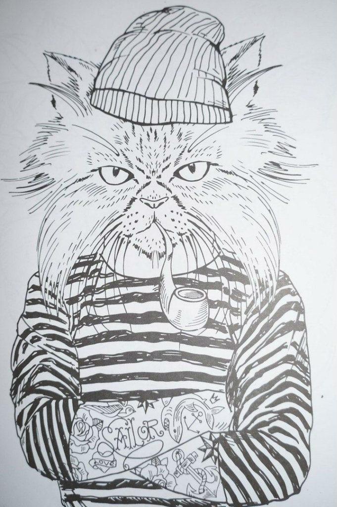 кошек для девочек бесплатно раскраски