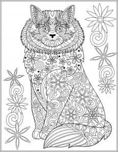кошек необычные раскраски