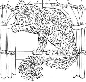кошка детская раскраска