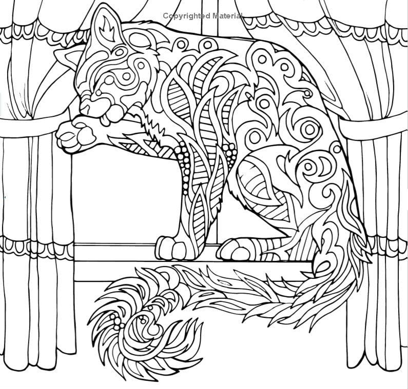 кошка детская раскраска - Рисовака