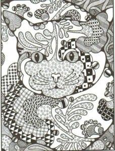 кошка картинки раскраски беспризорная