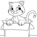 кошка раскраска принцесса