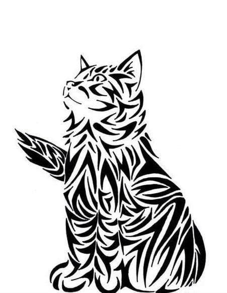 кошка раскраска - Рисовака