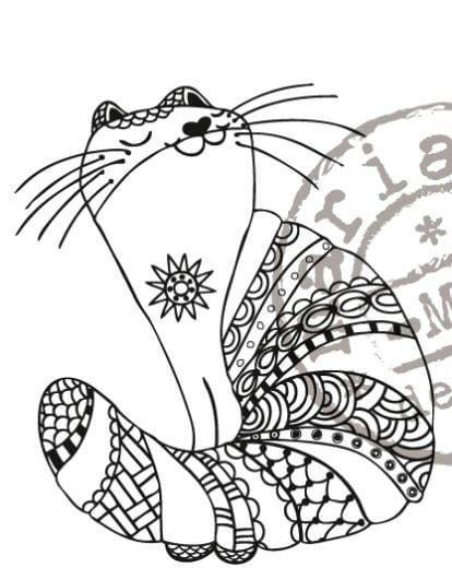 кошка раскраска красивая - Рисовака