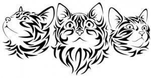 кошка распечатать раскраска