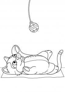 кошка в хорошем качестве раскраски антистресс