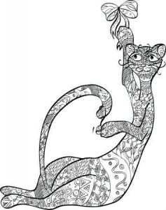 кошки антистрессовые раскраски