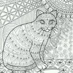 кошки арт раскраски