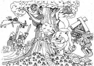 кошки для детей раскраска картинка