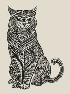 кошки коты раскраска