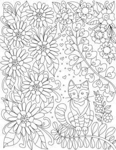 кошки печатать раскраски