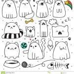 кошки раскраски животные