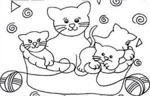 кошки распечатать бесплатно раскраски