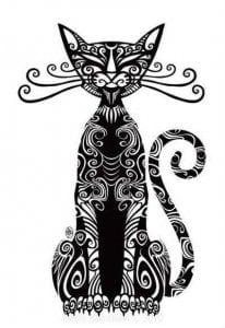 кошку раскраску напечатать