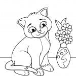 котята коты раскраска кошки