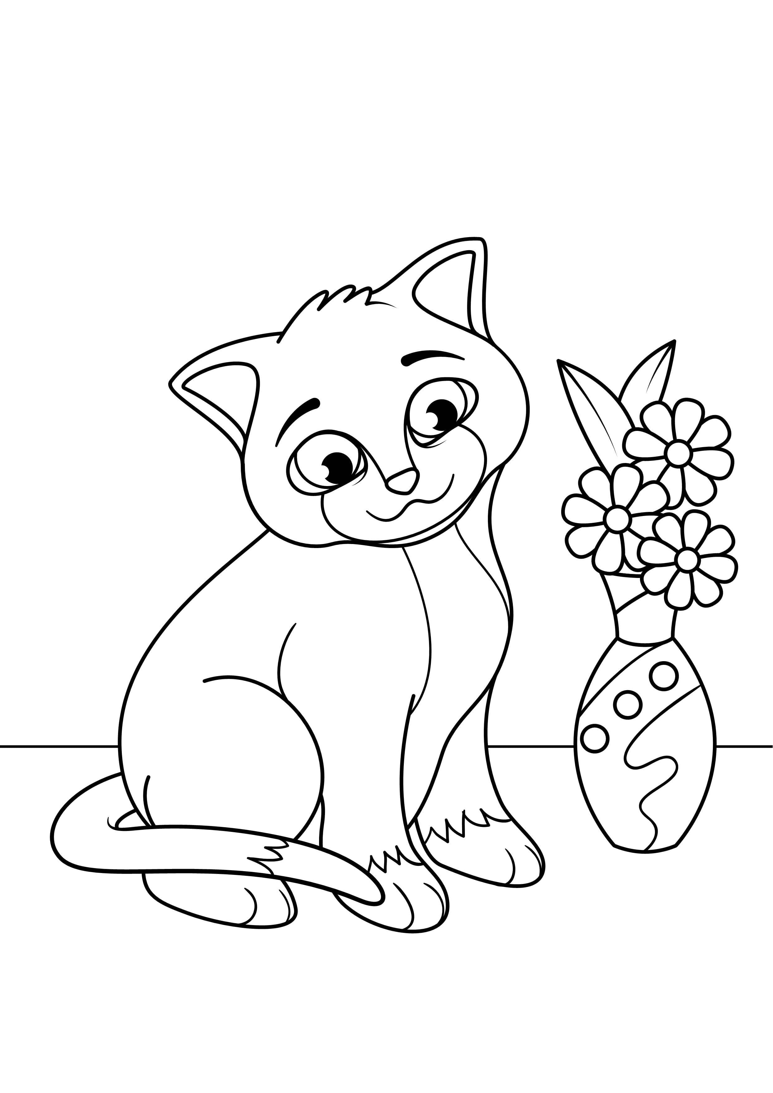 котята коты раскраска кошки - Рисовака