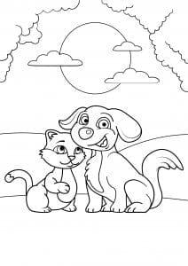 коты и кошки раскраски