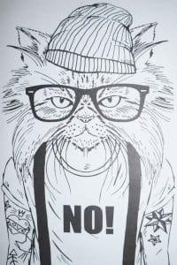 коты и кошки распечатать раскраски