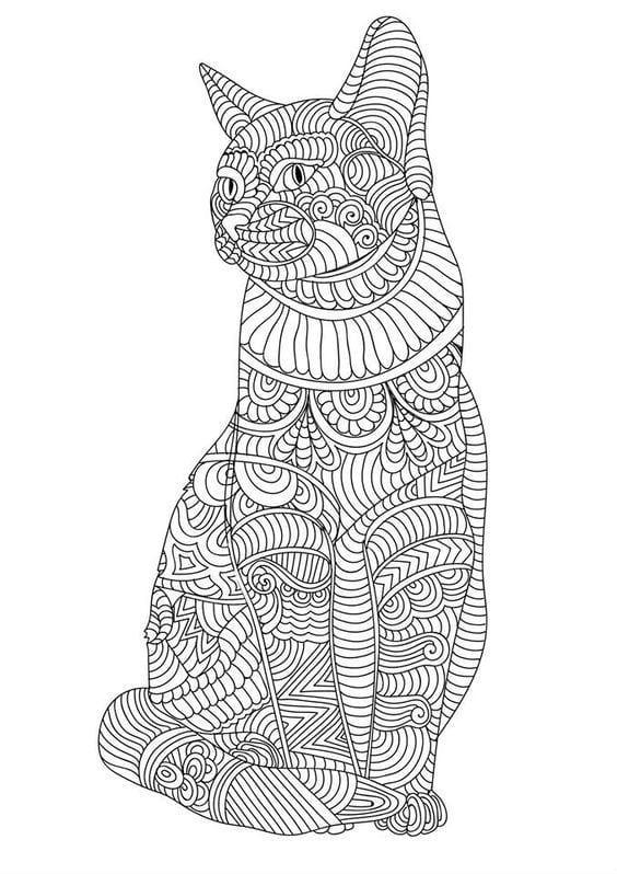 мир кошек раскраска антистресс рисовака