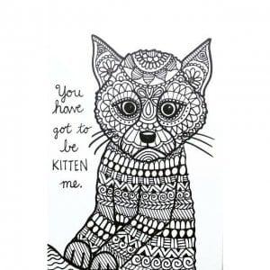 напечатать кошку раскраску