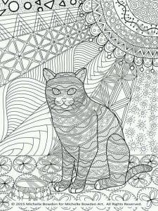 необычные раскраски кошек