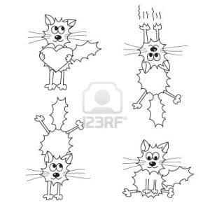 онлайн детей кошки раскраски