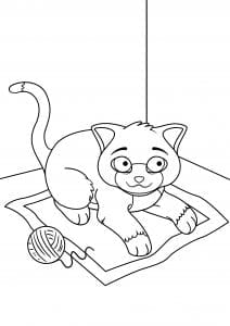 pdf скачать раскраска кошки