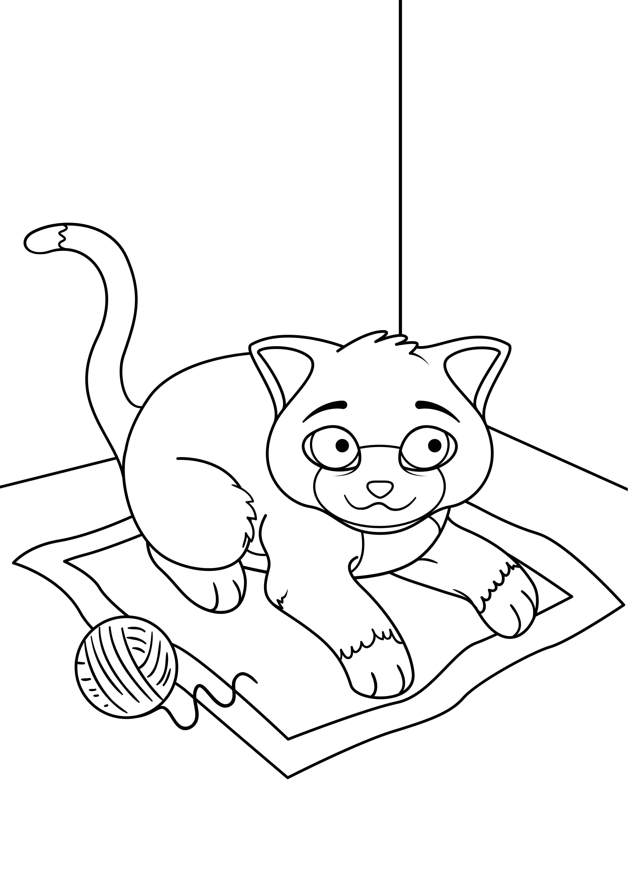 pdf скачать раскраска кошки - Рисовака