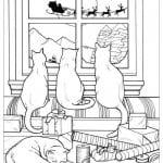 принцесса кошка раскраска А4