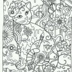 принцесса кошка раскраска