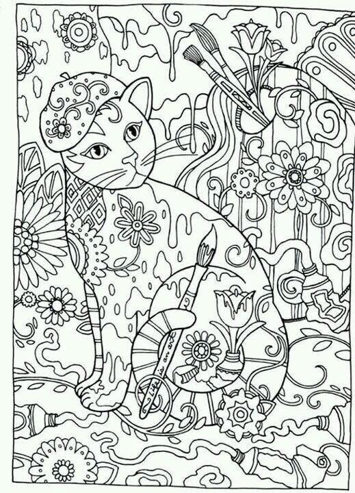принцесса кошка раскраска - Рисовака