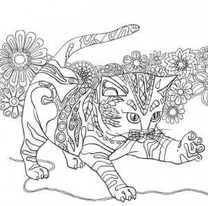 про кошек и котят распечатать раскраски
